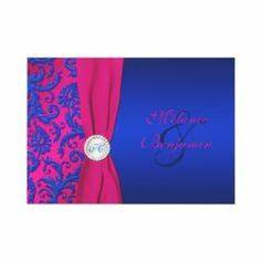 1000 images about ceremony on pinterest fuschia wedding With royal blue and fuchsia wedding invitations