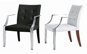 fauteuil rembourre monseigneur large cuir cuir blanc With salle À manger contemporaineavec fauteuil salle À manger accoudoirs