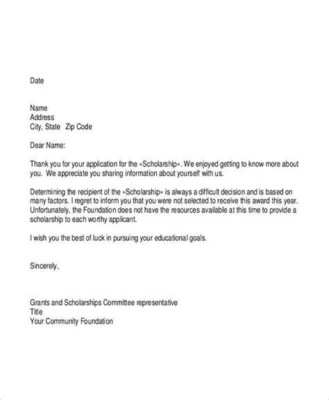 letter  application   scholarship grant