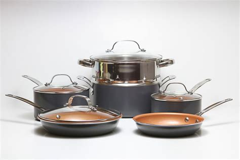 cookware copper cooking pans pots gotham steel gas stove types ming simply induction different non stick cooktops range kitchen versus