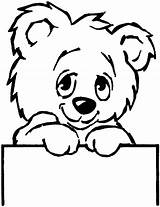 Bear Coloring Pages Animals sketch template