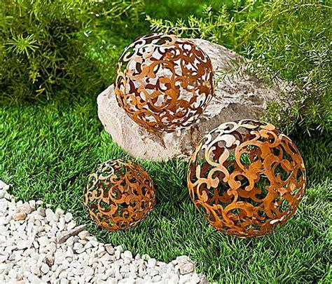 Deko Rost Für Den Garten by 3 Gartenkugeln Kugeln Edelrost Metall Rost Garten Deko