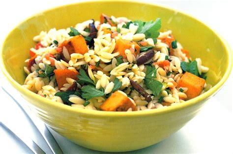 Pumpkin Risotto Recipe Easy by Risoni Pumpkin Amp Green Shallot Salad Recipe Taste Com Au