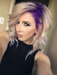 Purple Roots Blonde Hair