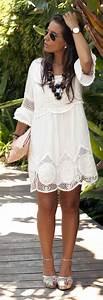 70 idees avec la robe blanche dentelle en tendance robe With robe blanche hippie
