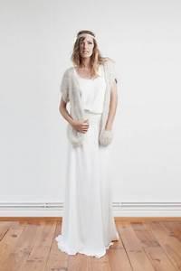 9 accessoires tout doux qui rechaufferont votre look de With robe de mariée hiver avec bijoux en gros