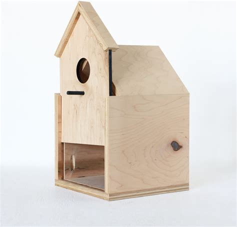 modern birdhouse with sliding front door by oh dier modern birdhouses by etsy
