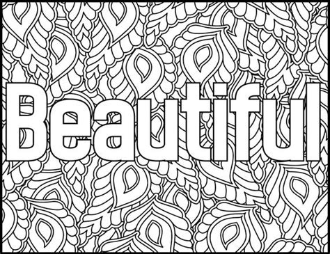 Positive Affirmations Coloring Pages For Adults-beautiful