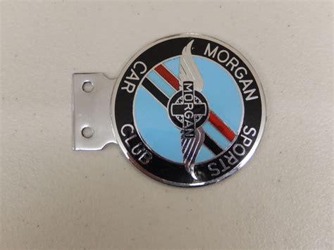 Vintage Chrome And Enamel Morgan Sports Car Club Car Badge