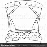 Stage Coloring Theatre Theater Clipart Curtains Drama Illustration Clip Pages Curtain Colouring Template Class Sketch Printable Bnp Studio Royalty Sketchite sketch template