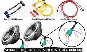 How To Wire Aftermarket Headlights Lights With Drl On