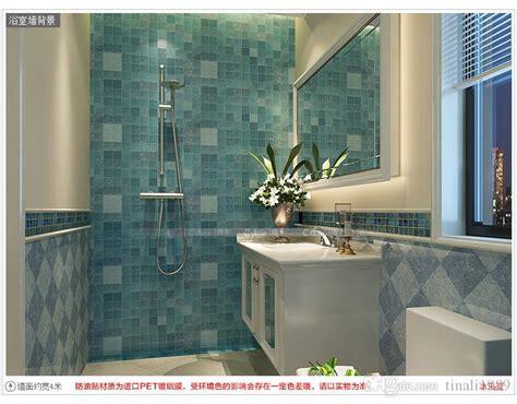 bathroom waterproof wall sticker pvc mosaic tile wallpaper