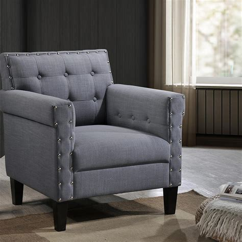 baxton studio accent chairs baxton studio odella contemporary gray fabric upholstered