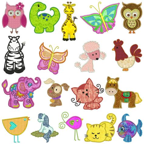Machine Applique Designs by Mixed Set 2 Machine Applique Embroidery Patterns 18