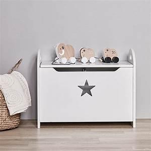 Coffre Jouet Enfant : banc coffre jouet en bois star blanc kid 39 s concept decoclico ~ Teatrodelosmanantiales.com Idées de Décoration