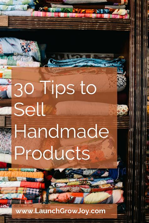 sell handmade  tips  sell  handmade products