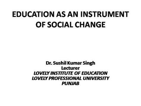 education   instrument  social change authorstream