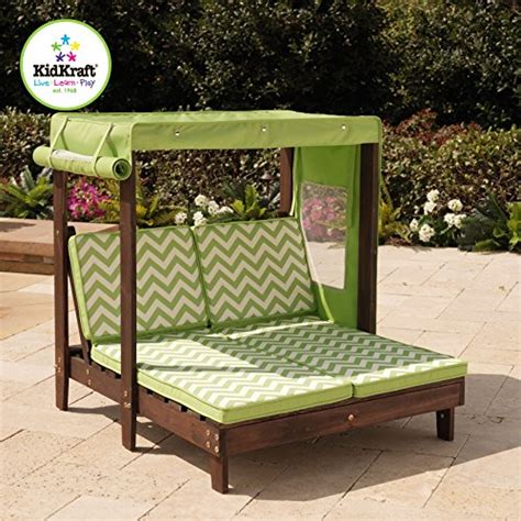 kidkraft outdoor double chaise lounge chair with canopy
