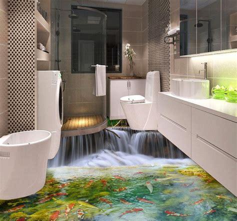 revetement mural vinyle salle de bain d 233 coration d int 233 rieur rev 234 tement de sol pvc vinyle autocollant personnalis 233 paysage cascade