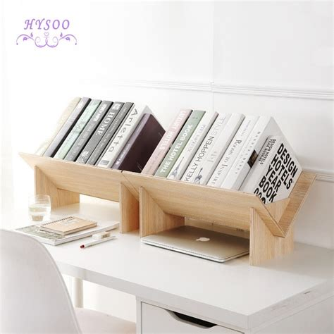 Desktop Bookcase by Solid Wood Assembly Bookshelf Table Floor Small Bookcase