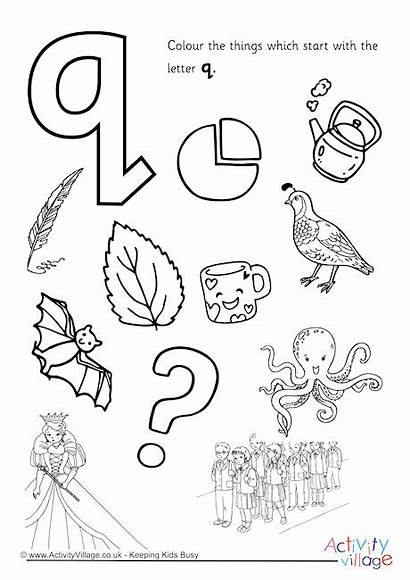Letter Start Colouring Pages Alphabet Drawing Activity