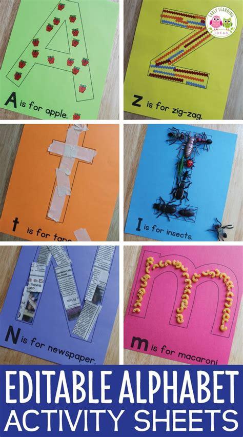 alphabet activities letter collage sheets editable abc 124 | 51da66b9b243b70d430662c1700415af