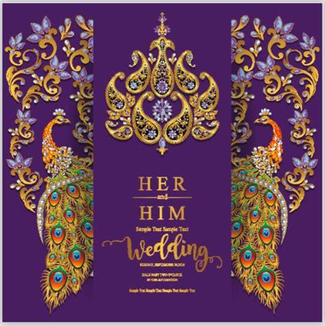 indian wedding invitation card template wedding