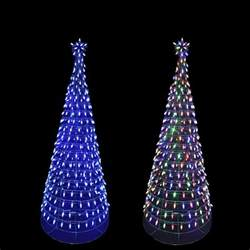 Pre Lit Multicolor Christmas Tree by Home Accents Holiday 6 Ft Pre Lit Led Tree Sculpture With