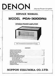 Download Denon Poa 3000rg Service Manual