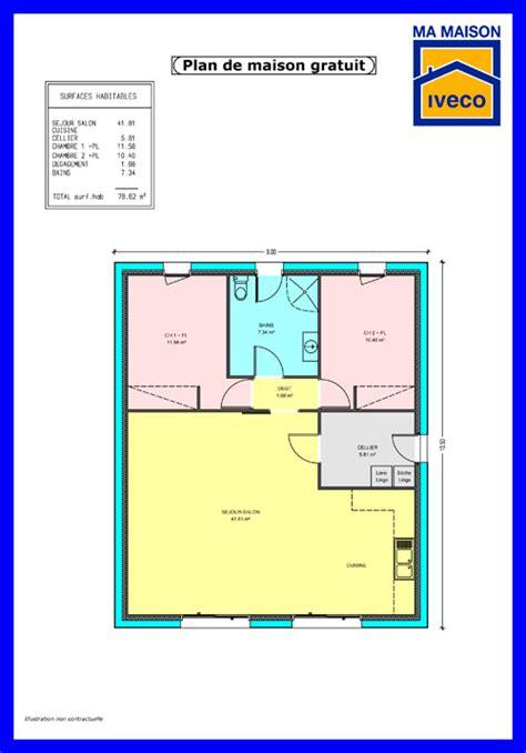 plan maison plain pied 2 chambres garage constructeurvendee 187 plans de maisons