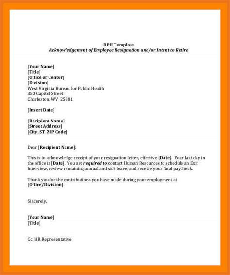 employment resignation letter moutemplate