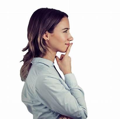 Woman Thinking Transparent Resolution