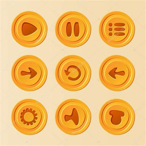 game ui vector set  buttons  mobile game  app