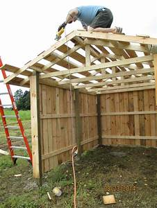 cleaning up the roof purlins on our small 8x16 three With building a small pole barn