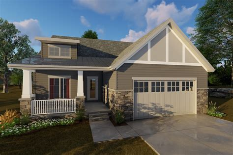 2 Bedroom Craftsman House Plan #100 1205: 1440 Sq Ft Home