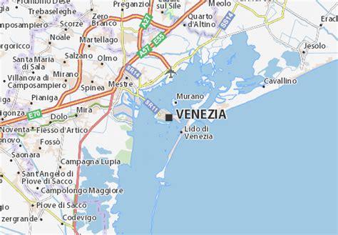 mapa venecia plano venecia viamichelin