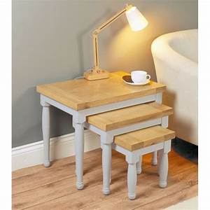 Nest Of Three Mobel Oak Coffee Tables Wooden Furniture Store