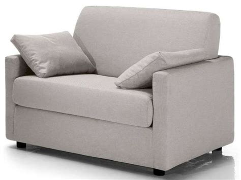 canap lit 1 personne fauteuil convertible federica coloris gris clair