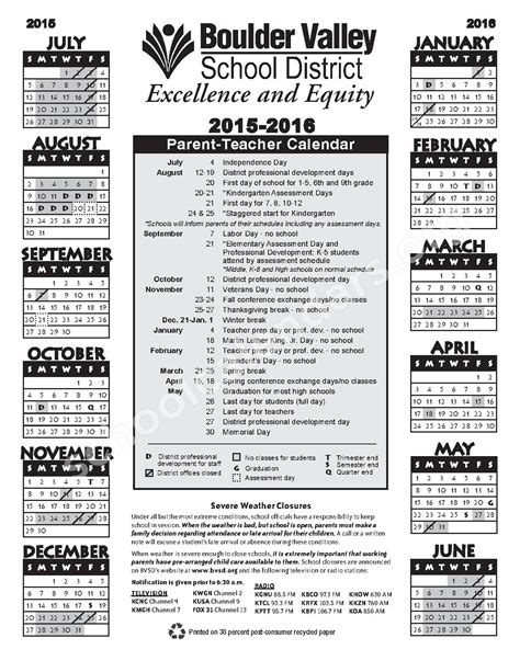 district calendar boulder valley school district