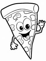 Coloring Pizza Pages sketch template