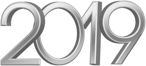 2019 Silver Png Clip Art Image