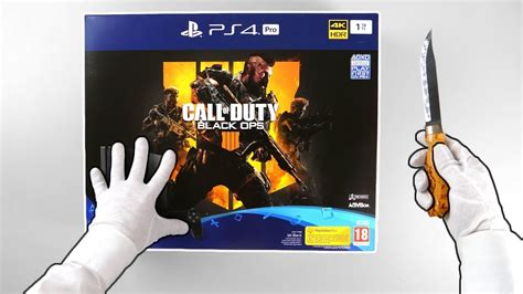 ps pro black ops  edition console unboxing