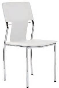 studio dining chair in white vinyl modern dining