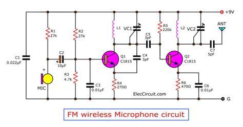 Wireless Microphone Circuit Diagram Eleccircuit