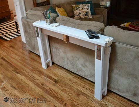 Abstandshalter Sofa Wand diy sofa table from 2x4s