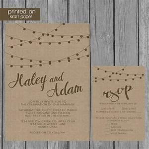string lights kraft paper wedding invitation 2219899 With wedding invitations on brown paper