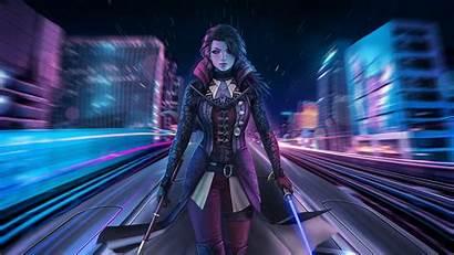 Fantasy Cyber Background Wallhaven Warrior Cc Woman