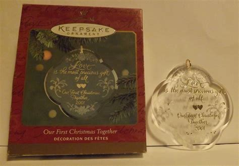 hallmark keepsake ornament our first christmas together