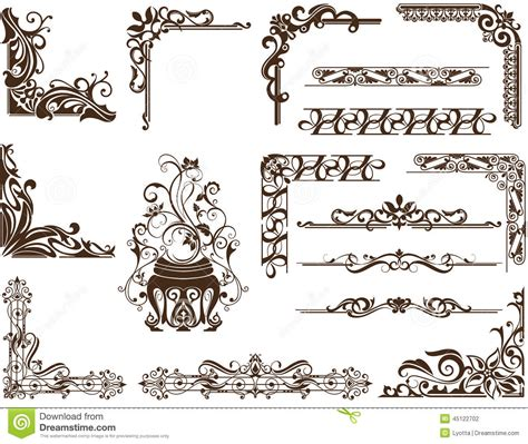 cornici illustrator vector vintage ornamental frames and corners stock vector