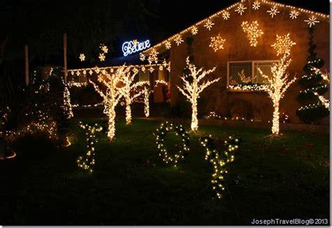 joseph travel blog photo friday christmas tree lane ceres ca